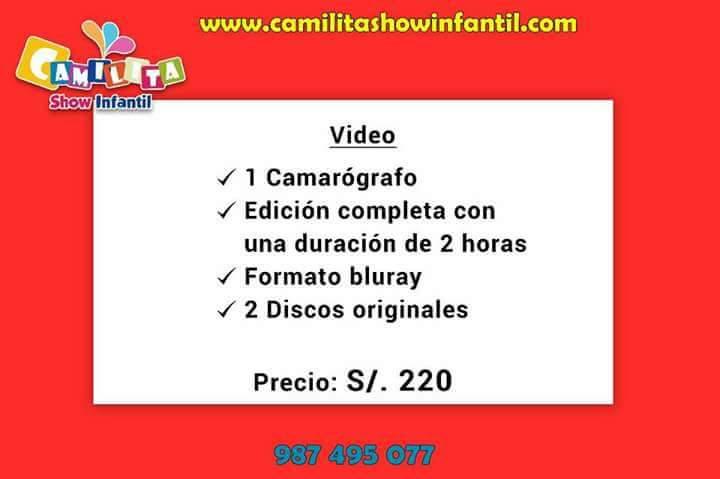Filmación y fotografía profesional en Lima a 220 soles