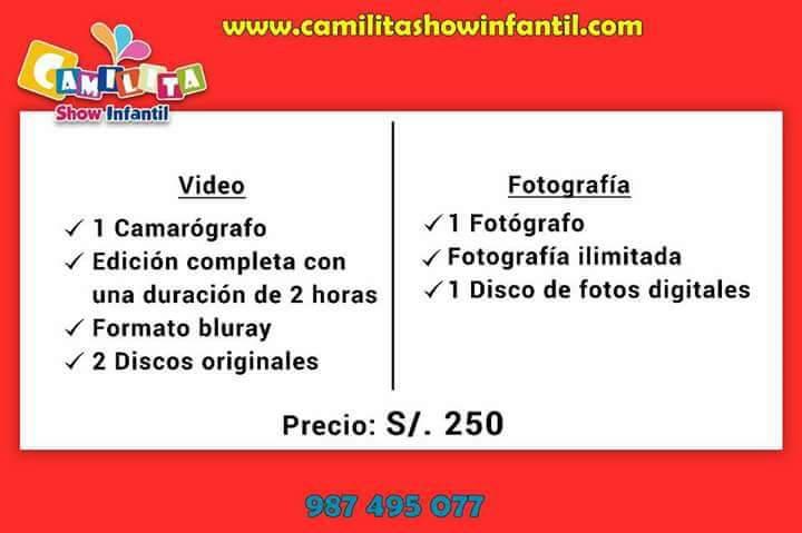 Filmación y fotografía profesional en Lima a 250 soles