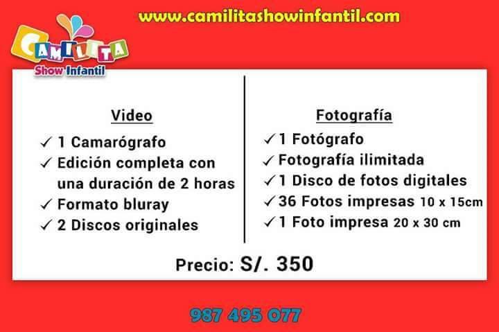 Filmación y fotografía profesional en Lima a 350 soles
